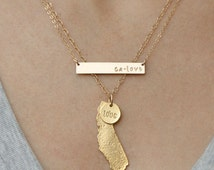 Gold California Necklace Set