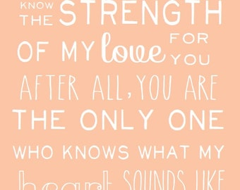 No One Will Ever Know the Strength of My Love... DIGITAL download PDF and JPEG