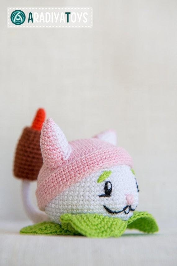Crochet Pattern of Cattail from Plants vs Zombies (Amigurumi ...