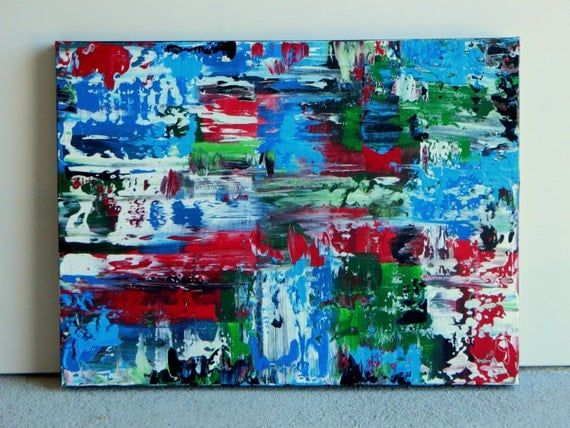 Custom Painting Blue Green Red White and Black  Sample Only for Request