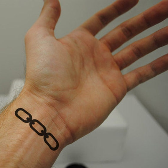 Bioshock chain tattoo jack 39 s tattoo by richarrrds on etsy for Bioshock wrist tattoo