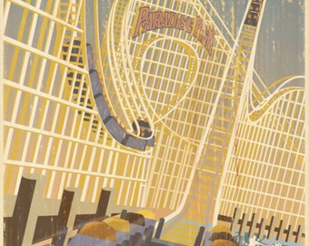 Giclee Printed California Screamin' Attraction Poster