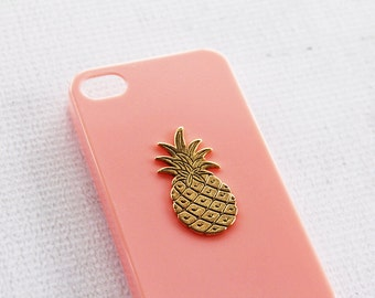 Apple 6s  Pineapple iPhone Smartphone Cover Phone Cases Pink Pineapple Gold Plated Vintage Charm Phone Case iPhone 7  Fruit Pattern