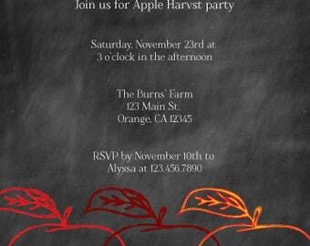 Apple Harvest Invitation