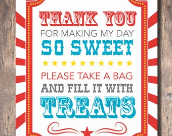 Carnival Party Candy Buffet Sign (Instant Download)