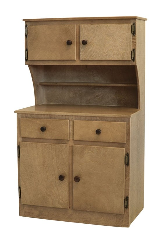 Wooden Play Kitchen Hutch Microwave Stand By Rustictoybarn