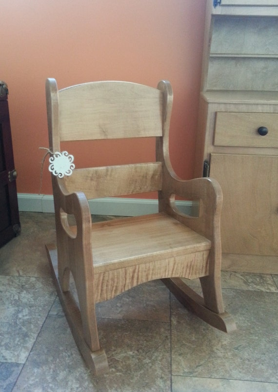 Wooden Rocking Chair Toddler Size Solid Wood By AlaratessAlexbres