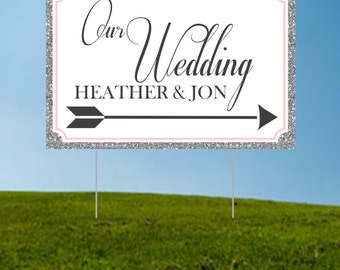 Wedding Directional Yard Sign Image