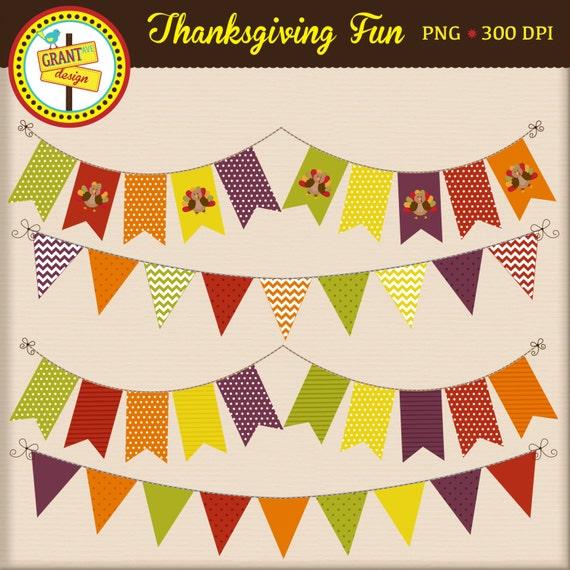 Thanksgiving Bunting Thanksgiving Banners Thanksgiving