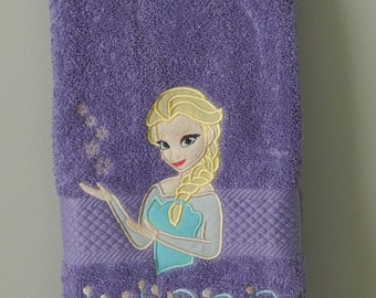 Elsa Frozen Bathroom Hand Towel