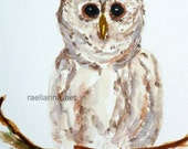 ACEO Open Edition Art Print Owl, hedwig, harry potter, small art, fine art print, animal art