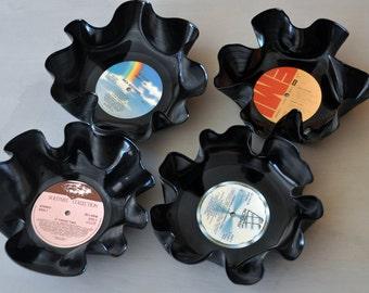 Vinyl Record Bowl - Set of 4 Nestable Bowls