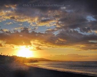 Easter Beach Sunrise Photo Art, Golden Sunrise, Seascape Photo Art, Nature Photography, Easter Morning Dana Point, Orange County, California