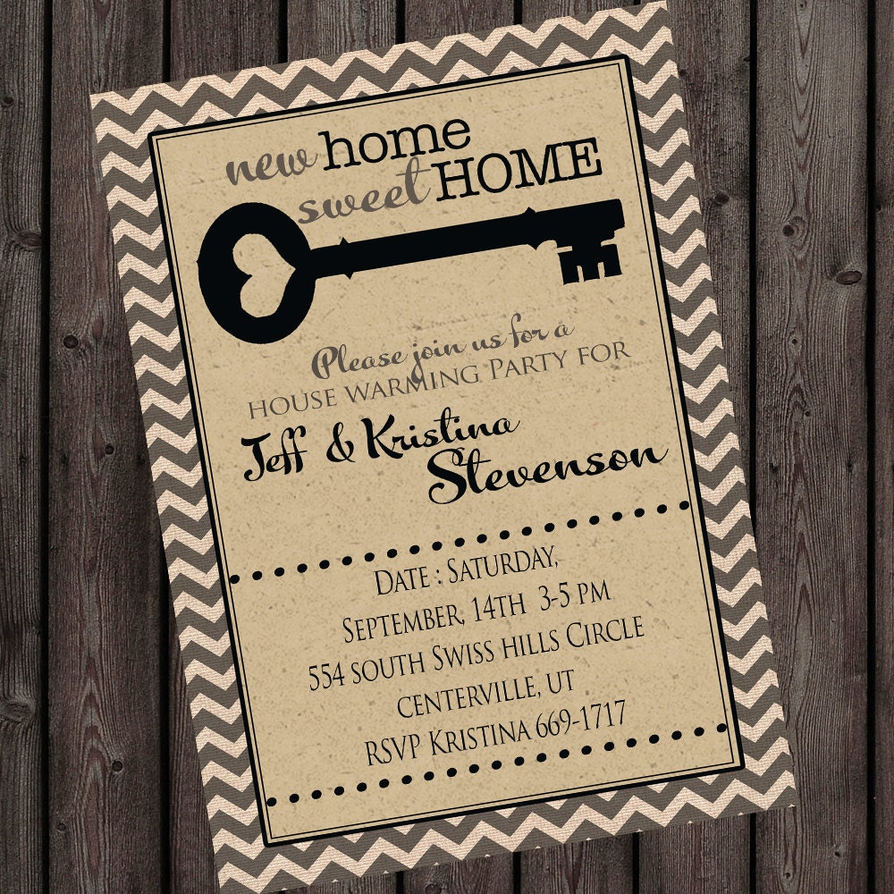 FAST Ship New Home Invitation House Warming Invitations Open