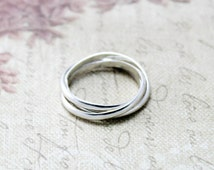 Sterling Silver Russian Wedding Ring