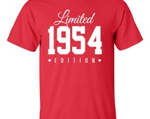 1954 Limited Edition 62nd Birthday Party Shirt Turning 62 T-Shirt Tee Shirt T Shirt Mens Ladies Womens Funny Modern Tee TH-009