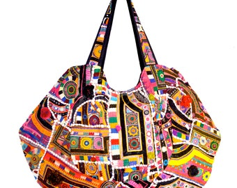 Banjara Hobo Bag - Indian Gypsy Tribal Embroidery