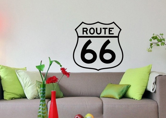 Wall Decals Route 66 Decal Vinyl Sticker Home Decor Bedroom