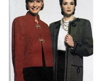 Simplicity Sewing Pattern 9875 Misses Lined Jacket in 2 Lengths with Trim Variations Size H 6-14