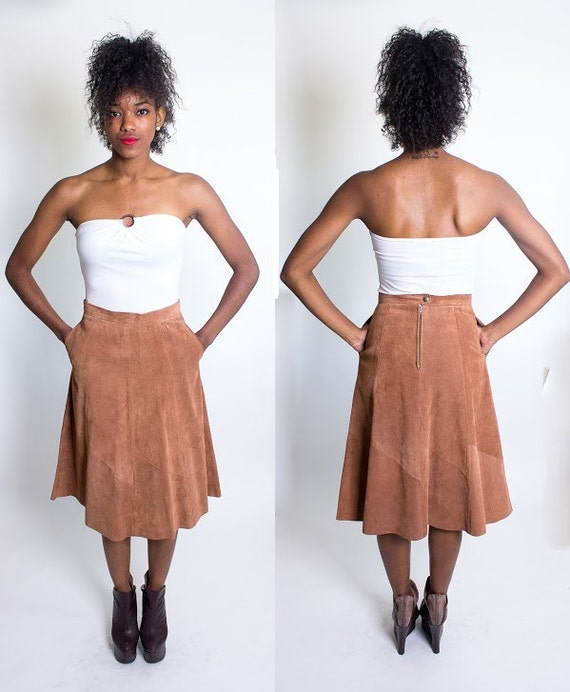 Vintage Suede Skirt on Etsy - Vintage Clothing