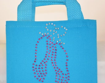 Glitzy Mini Tote Gift Favor Bags - Shoes Shoes Shoes - Ballet Slippers Flip Flops High Heel Cowboy Boot | Swag Bag