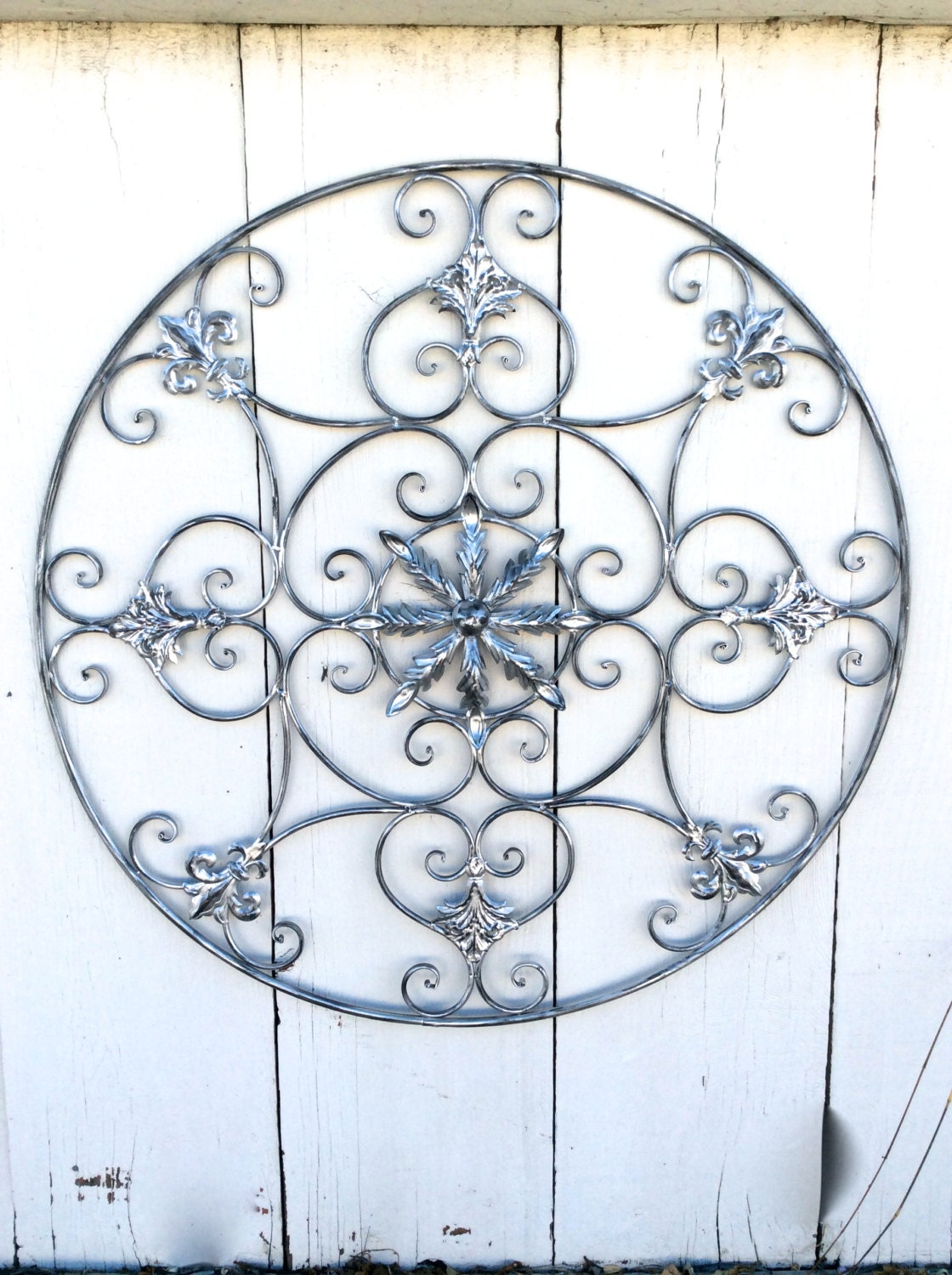 Large Wall Art Metal Wall Decor Silver Metal Wall Art Large