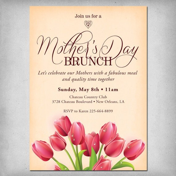 items similar to printable mother 39 s day brunch invitation on etsy. Black Bedroom Furniture Sets. Home Design Ideas
