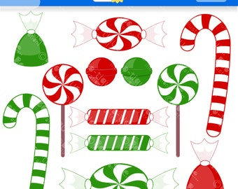 Christmas Candy Digital Clipart for Instant Download. Christmas Clipart. Xmas Clip Art. Candy Clip art. Christmas Clip Art. Xmas Clipart