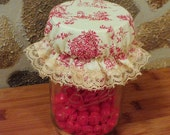 Red Toile Mason Jar Cover Bonnet - Mix and Match Separates
