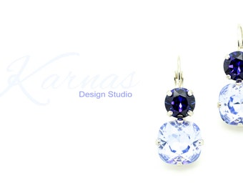 PROVENCE & HELIO 12mm/8mm Cushion Cut Drops Made With Swarovski Elements *Pick Your Finish *Karnas Design Studio *Free Shipping*