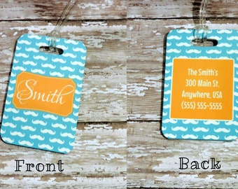 Personalized Monogrammed Luggage Tag- Choose your custom design