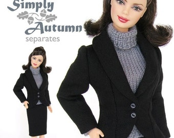 Sewing pattern for 11 1/2 inch fashion dolls: Dressed to Impress Suit