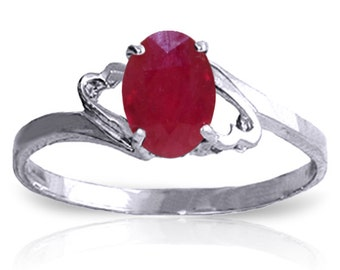 1.15 Carat 14k Solid Gold Ring Natural Ruby (Yellow, White Gold, Rose Gold )