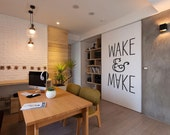 Wake & Make: Inspiring Quote Wall Decal for Creatives