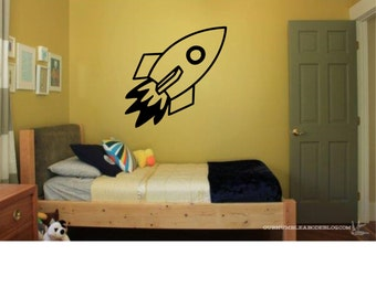 Rocketship or Spaceship Wall Decal