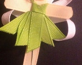 Disney Tinkerbell fairy hair clip ribbon sculpture hairbow hair bow