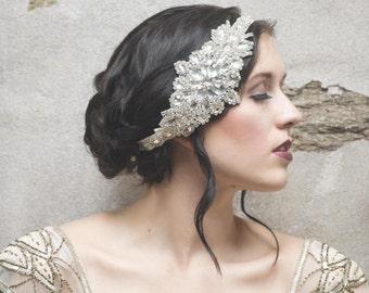 Glamour Rhinestone flapper Gatsby Headband, Wedding Headband, Crystal Headband, Wedding Headpiece, Bridal Headpiece, 1920s Flapper headband