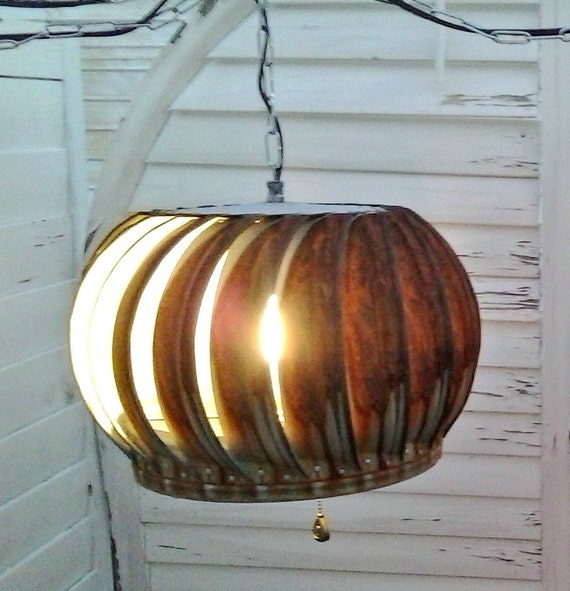 Vintage And Industrial Lighting From Etsy: Industrial Hanging Pendant Lights Up-cycled From Vintage Rusty