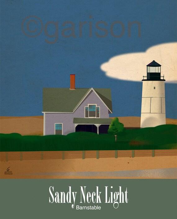 Sandy Neck Light. Barnstable Cape Cod Lighthouse 8x10 Giclee