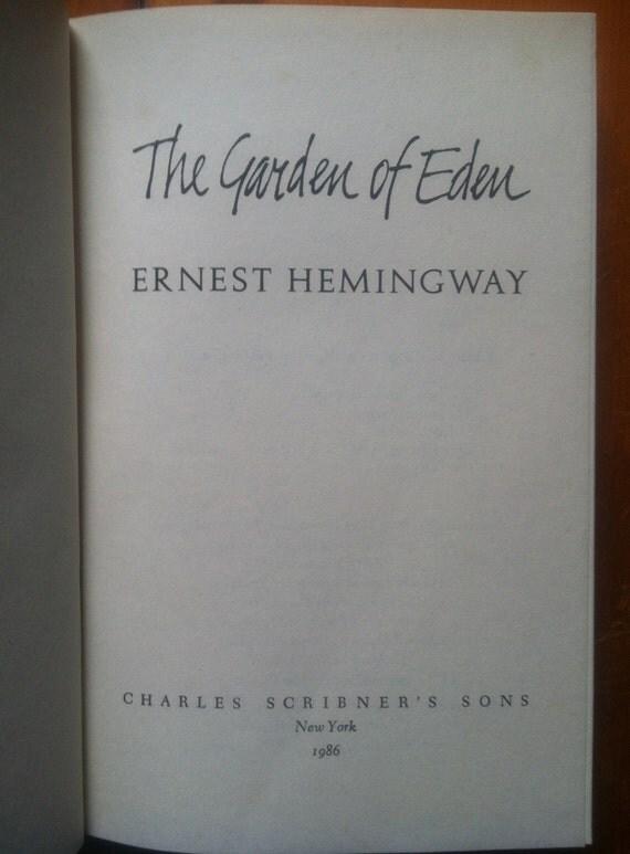 Hemingway Garden Of Eden First Edition Vintage 1st Edition