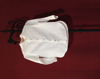 Christening shirt - special occasions boys linen ecothic shirt