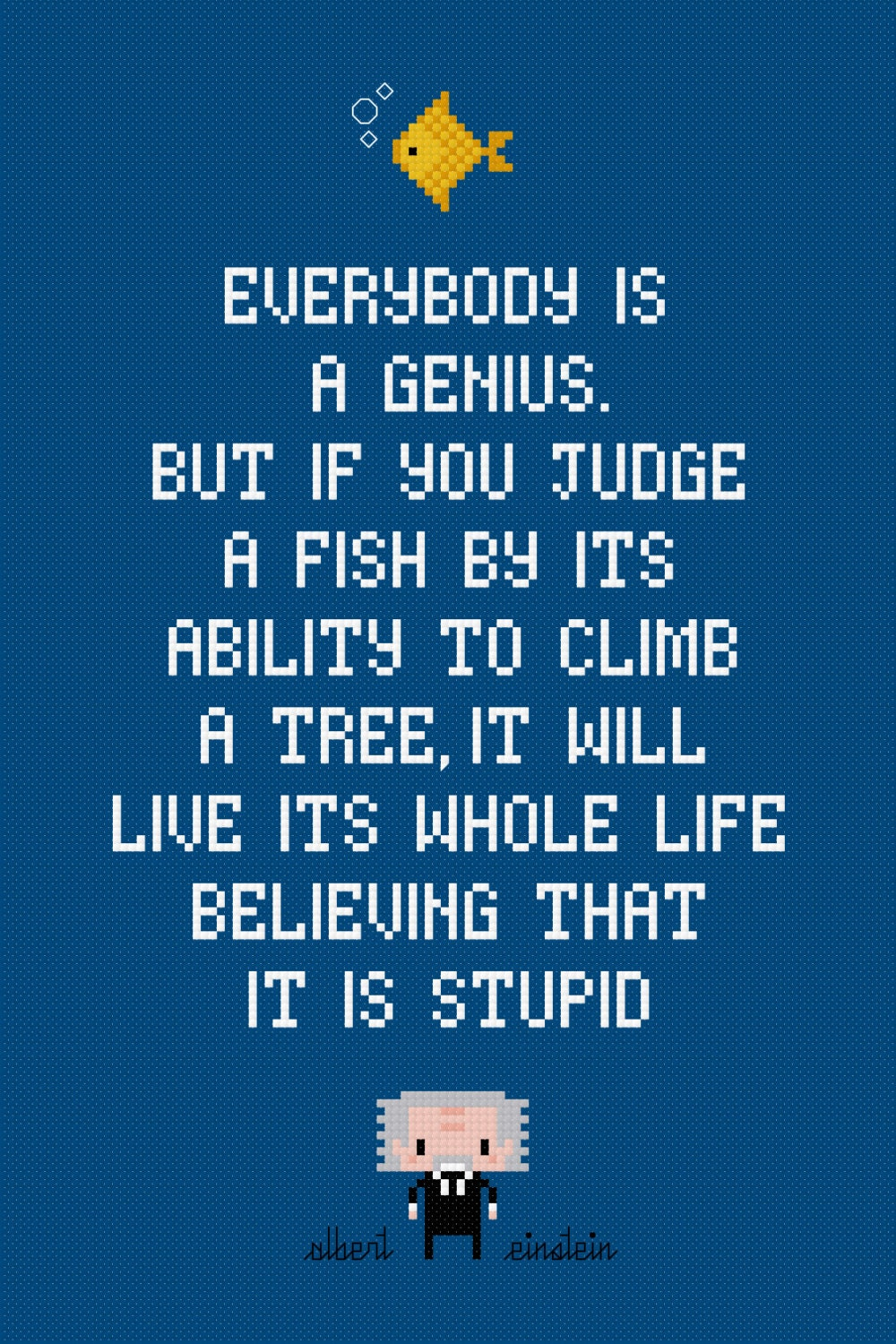 Fish Motivational Quotes: Quotes Cross Stitch Pattern Inspirational Quotes Counted