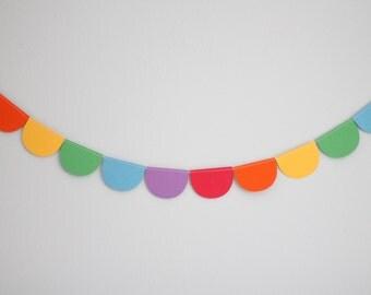 Rainbow Scalloped Garland