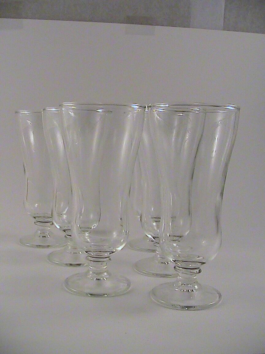 sundae glasses set of 6 vintage housewares ice cream party. Black Bedroom Furniture Sets. Home Design Ideas