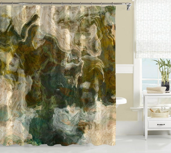 contemporary shower curtain abstract art bathroom decor