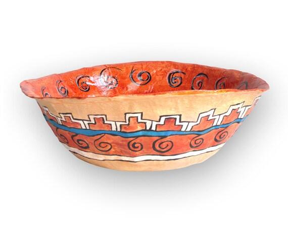 items similar to paper mache bowl fruit bowl table. Black Bedroom Furniture Sets. Home Design Ideas