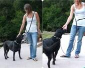 Multi-Lead, European Leash, Multifunctional Leather Leash,Police Lead,Handsfree Leather Leash,All In One Dog Leash,Slip Collar and Dog Leash
