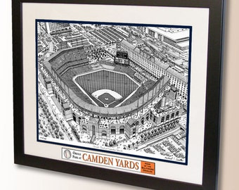 Oriole Park at Camden Yards Art, home of the Baltimore Orioles