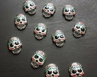 Sugar Skull Floating Charm For Floating Lockets-Dia De Los Muertos-Gift Idea