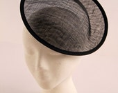 Black Large Saucer Sinamay Fascinator Hat Base for Millinery